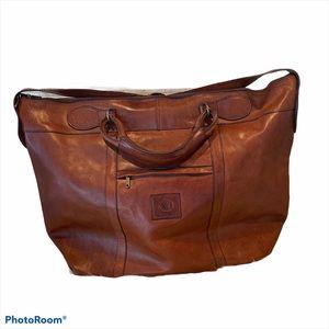 Italian real leather weekend bag